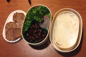 Mary's Gone Grakers, Black Beans, Broccoli, Chia Pudding, Mashed Potatoes