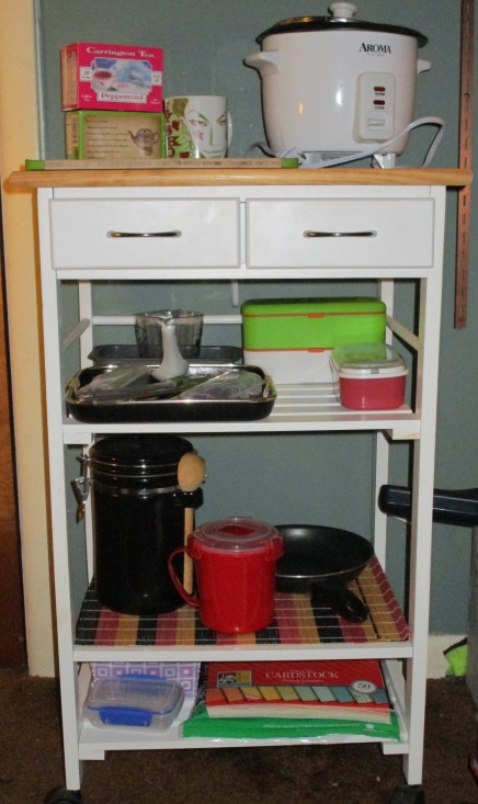 bento workstation, bar cart